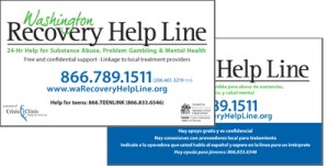 washinton recovery help line business cards