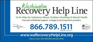 washington recovery help line rack cards